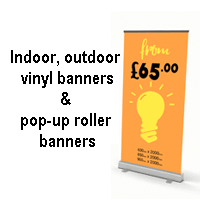 Pop-up and Vinyl Banners from £35